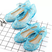 Girls Shoes Wedge Sandals Children High-Heel Cosplay Toddler Party Kids Infant Performance-Prop