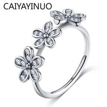 Caiyayinuo серебро 925 пробы ювелирные кольца для женщин циркон