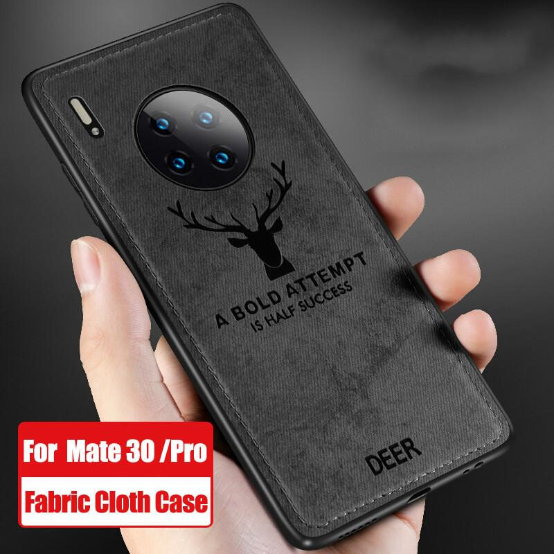 Fabric Cloth Texure Soft Cover For Huawei Mate30 Pro P Smart Z Y9prime 2019 Retro Case For Honor 9X 20 Pro 10I 20I 8X 8A 8S Case