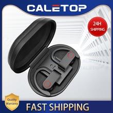 Kablosuz spor kulaklıklar TWS Bluetooth 5.0 kulaklık kulak kancası koşu gürültü Stereo mikrofonlu kulaklık IPX4 su geçirmez