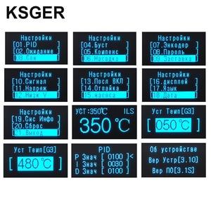 Image 5 - KSGER Estación de soldadura T12, herramientas de bricolaje STM32 V3.1S OLED, puntas de hierro T12, mango de aleación de aluminio 907, soporte de Metal, calor rápido