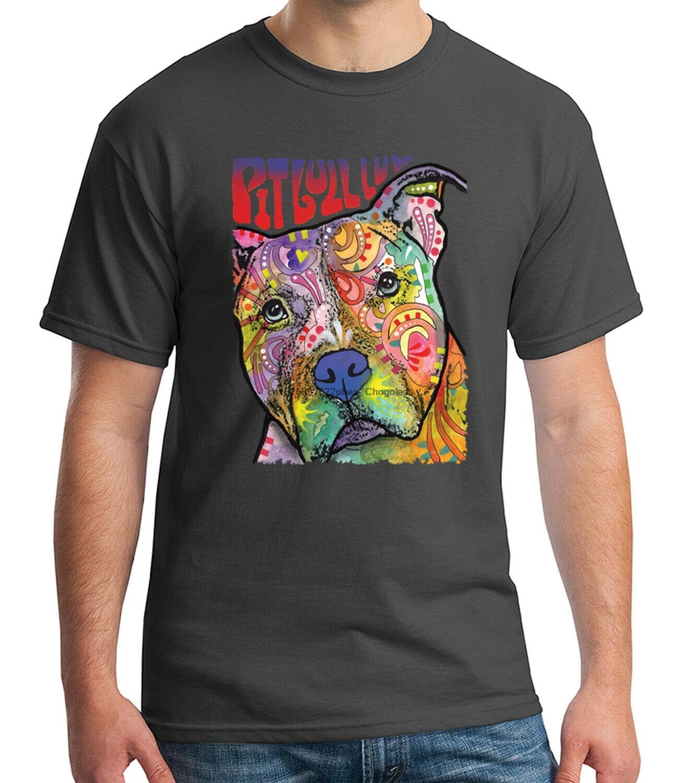 Питбуль люв футболка для взрослых Pitbull love Tee для мужчин-1575C