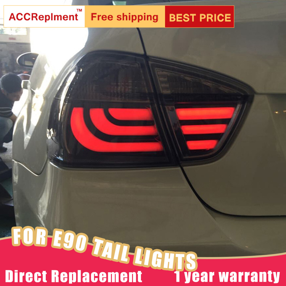New LED Taillights Assembly For BMW 3 Series E90 05-08 LED Rear Lamp Brake Reverse Light Rear Back Up Lamp DRL Car Tail lights image