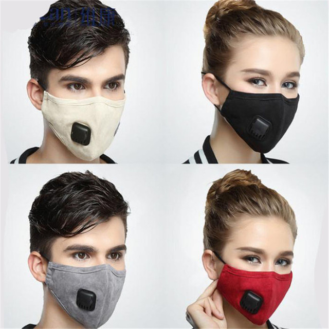 Anti Dust Mask Activated Carbon Filter PM2.5 Mouth Mask Windproof Mouth-muffle Bacteria Proof Flu Facial Masks Care