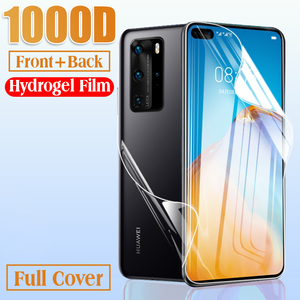 1000D Front Back Soft Hydrogel Film For Huawei P40 Pro PLus P30 Lite E P20 Mate 20 Screen Protector Not Glass Full Cover Film()