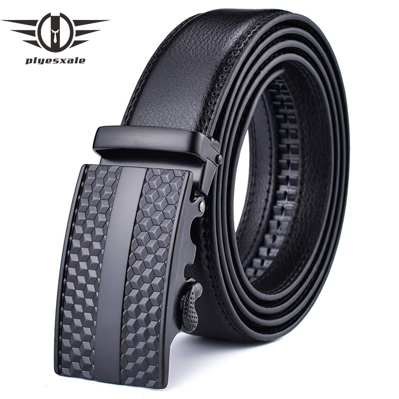 Plyesxale Brand Top Cow Genuine Leather Belts For Men Automatic Buckle Ratchet Belt Luxury Cinturon Hombre Ceinture Homme G78