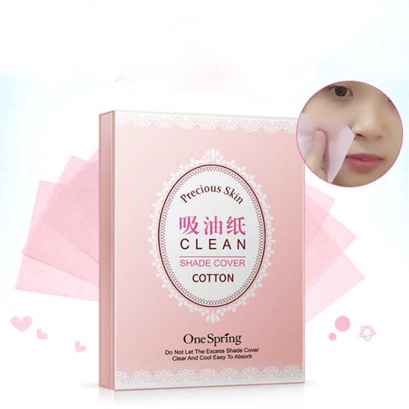 100 шт./упак. ткани Бумага s Зелёный чай запах снятие макияжа для впитывания жира уход за кожей лица Бумага поглощать для удаления макияжа