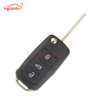5K0837202AE remote key 315Mhz 3 button with panic HU66 blade NBG010180T for VW Beetle Passat Jetta Tiguan 2015 2016 kigoauto buttons buttons buttons 3button remote -
