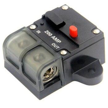 Disyuntor 12V CC 50A-300A coche barco camión RV amplificador de Audio estéreo en línea reemplazar fusible estilo ayu