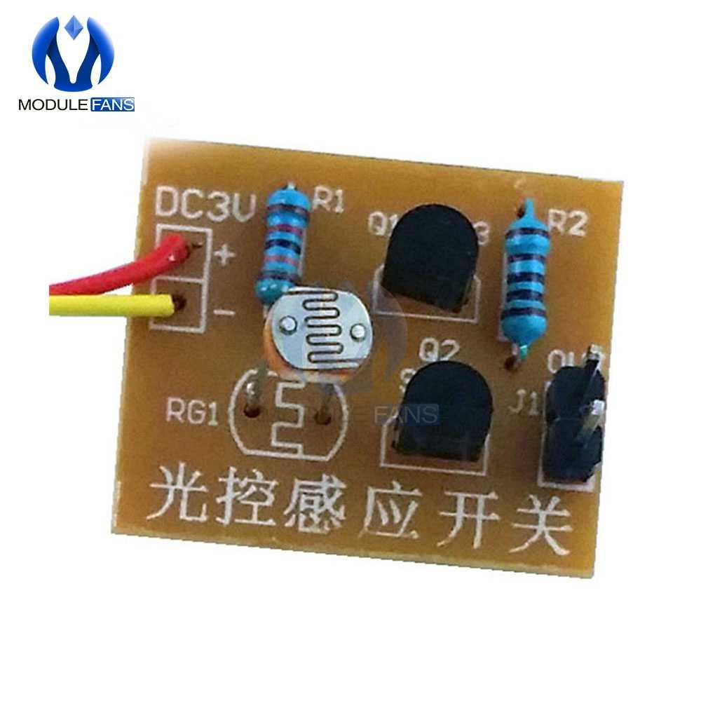 Commutateur de Module de carte de capteur de contrôle de la lumière Kits de commutateur d'induction photosensible bricolage formation électronique Suite de Circuit intégré
