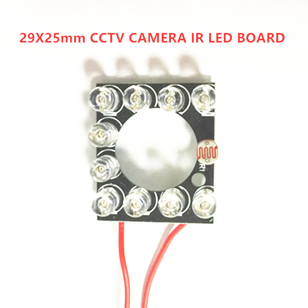 Infrared Light Board IP Camera IR LED Module 11pcs 5mm850nm IR LEDs  90 Degree 60 Degree For 3.6mm 6mm Lens