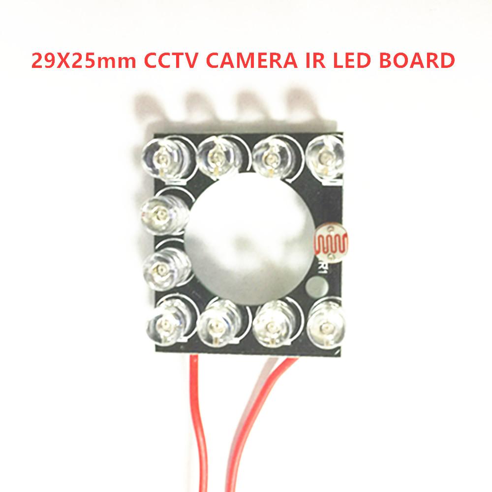 Infrared Light Board IP Camera IR LED Module 11pcs 5mm850nm IR LEDs 90 degree 60 degree for 3.6mm 6mm lens