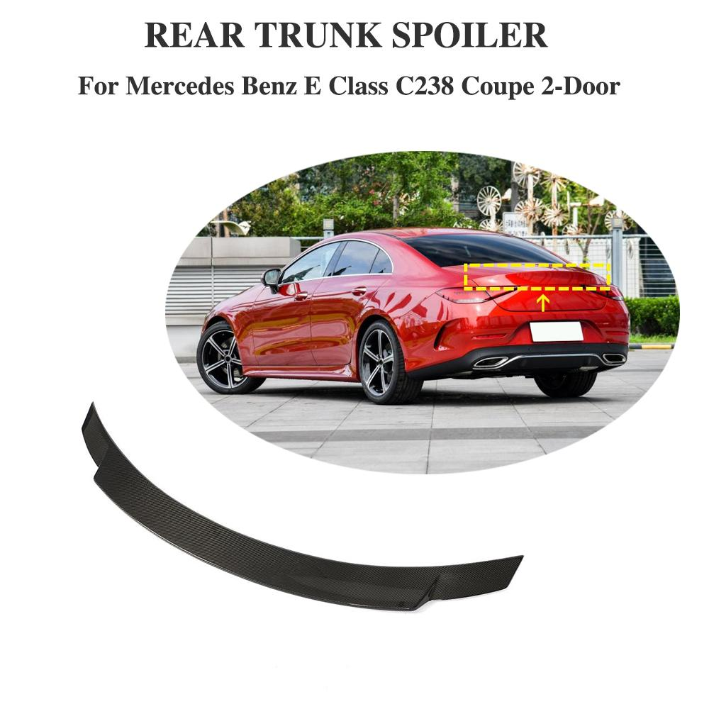 For E Coupe <font><b>C238</b></font> W238 <font><b>Spoiler</b></font> Carbon Fiber Rear Trunk For Mercedes-Benz E Class <font><b>C238</b></font> Coupe 2017 2018 2019 Bootlid Rear Lip image
