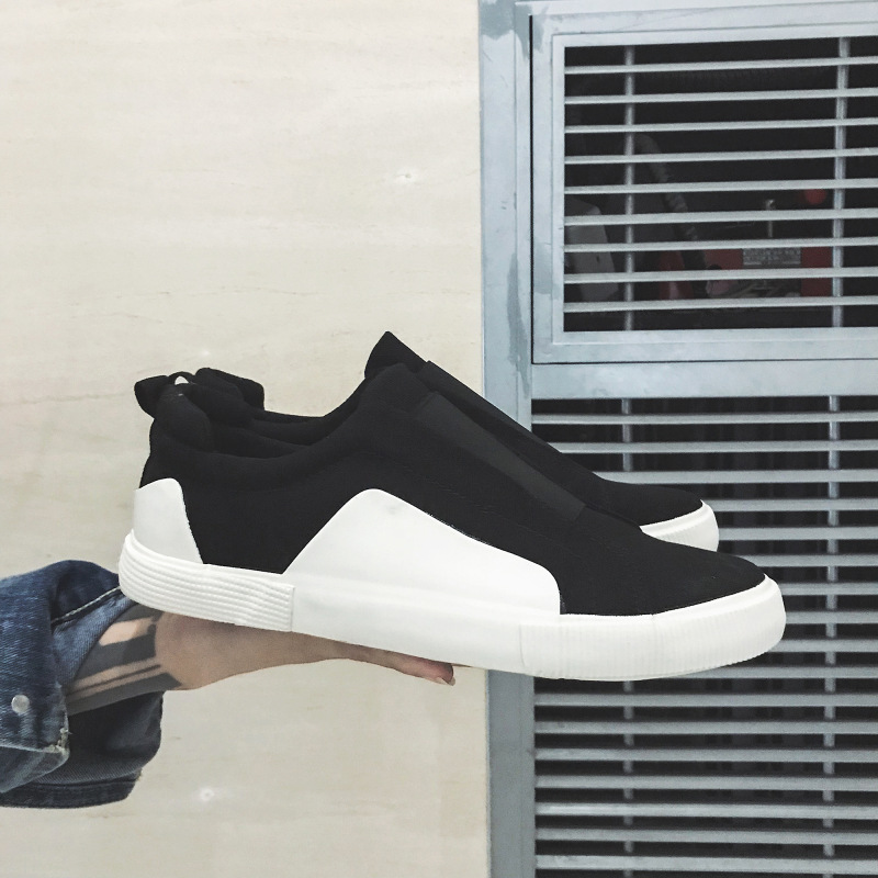2020 Fashion Sneakers Men Canvas Shoes Men Loafers Mens Causal Shoes Cool Male Street Footwear Classic Black White N014