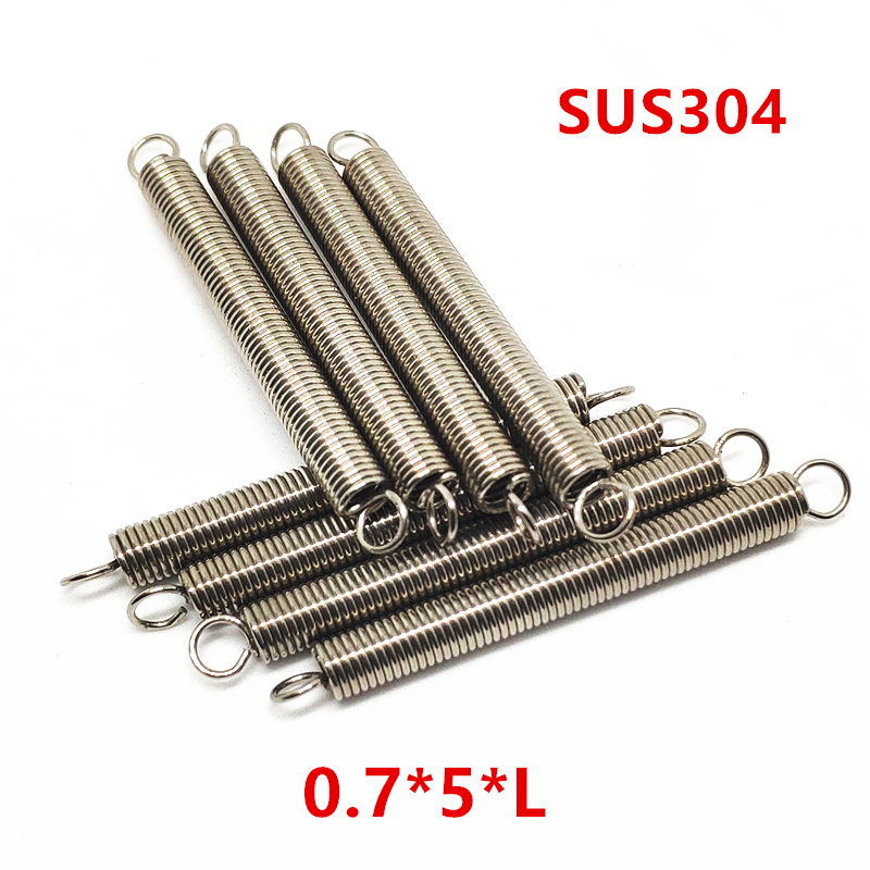 5mm Outside Dia Extension Springs 304 Stainless Steel 0.7mm Wire Dia