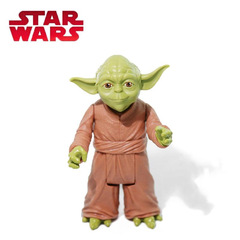 10cm Star Wars Toys Master Yoda Das Jedi Samurai PVC Action Figure BB-8 R2-D2 The Force Awakens Baby Yoda Collection Model Doll