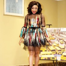 Новые Стильные Классические африканские платья для женщин с блестками рубашка в африканском стиле африканская одежда Дашики модное платье из ткани африканская одежда