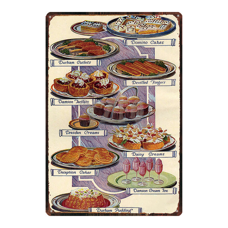 Bbq Zone Chef Kitchen Sign Metal Signs Shabby Chic Vintage Style