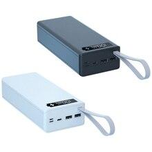 取り外し可能なC16 lcdディスプレイdiy 16x18650バッテリーケース電源銀行シェル外部バッテリーpowerbankプロテクターなしボックス