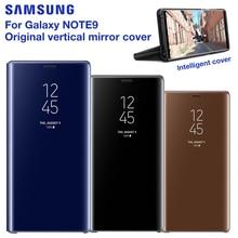 サムスンの携帯電話ケースオリジナル垂直ミラー保護シェル銀河注 9 Note9 N9600 N960f電話保護カバー