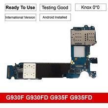 Desbloqueado para samsung galaxy s7 g930f g930fd s7 borda g935f g935fd original placa mãe chips completos, europa versão 4g rede