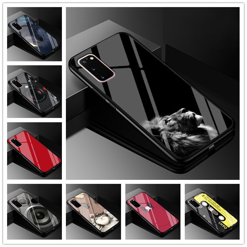 For Samsung S20 Ultra Case Tempered Glass Hard Back cover For Samsung Galaxy S20 Phone cases for Samsung Galaxy S20+ S 20 Covers фото