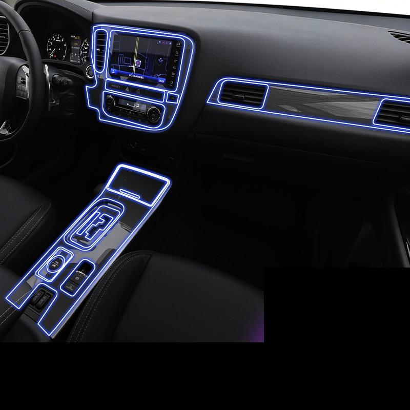 Lsrtw2017 TPU Car Gear Dashboard Film Sticker For Mitsubishi Outlander 2013 2014 2015 2016 2017 2018 2019 2020 Anti-scratch
