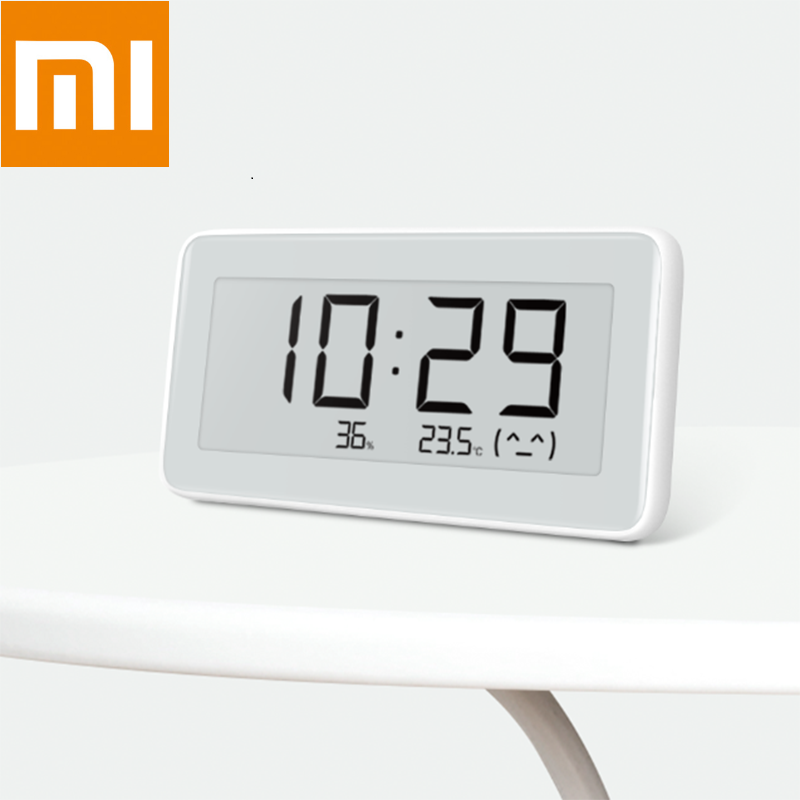 On Stock Xiaomi Mijia Electronic Thermo-hygrometer Pro BT4.0 Wireless Smart Electric Clock Indoor&Outdoor LCD Hygrometer Thermom