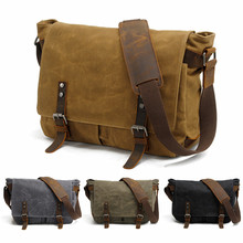 Vintage Canvas Leather Waterproof DSLR Camera Bag Photography Shoulder bags case for Canon Nikon Sony Panasonic Fujifilm Olympus