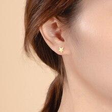 Новая модные простая звезды Цирконий серьги гвоздики для женские бижутерия изделия Изящные медные серьги сережки женские