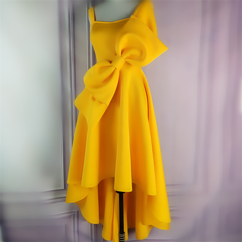 Women_s_Irregular_Yellow_Occassion_Dresses_Flare_Pleated_Party_with_Bow_tie_Celebrate_Ladies_Dated_N (2)