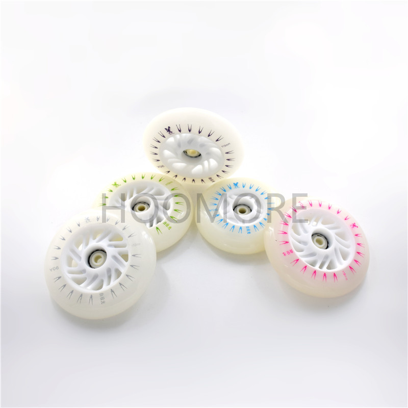 Free Shipping LED Flash Skates Skate Wheel 90A PU Roller Inline Speed Skates Wheel With Magnet Core 90/100/110mm  8 Pcs / Lot