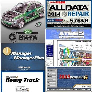 Alldata Software para coches y camiones, taller de datos de reparación vivo Alldata Mit/chell ElsaWin 6,0 ATSG, reparación automática 49 en 1 HDD 1TB