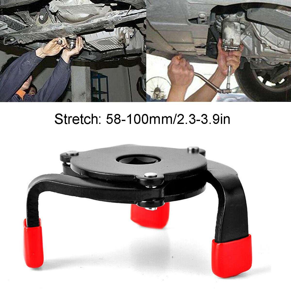 3 Jaw Universal Oil Filter Wrench With Anti-Slip Edging Oil Core Disassembly Ball Head