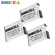 цена на Bonacell 1.5Ah EN-EL12 EN EL12 For Nikon EN-EL12 Battery for Nikon CoolPix S610 S610c S620 S630 S710 P300 P310 P330 S6200 S9400