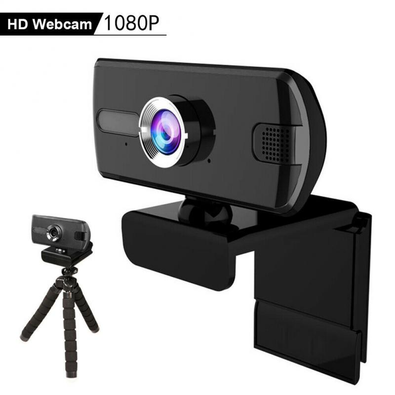 USB 1080P 360° Web Camera Video Automatic Webcam Built-in Stereo Microphone Computer For Video Calling With Tripod