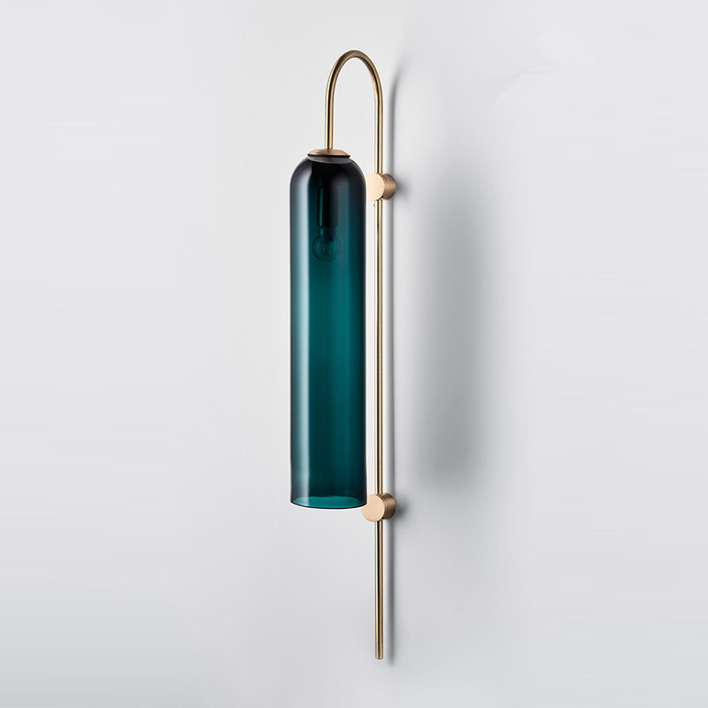 Modern Loft Designer Studio Wall Light Art Simply Glass Dining Room Hotel Villa Study Wall Sconce Free Shipping