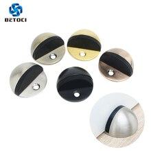 BETOCI Concealed stainless steel rubber door suction holder installed stop floor bathroom furniture hardware