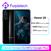 Global Version Honor 20 Smartphone 6G128G Kirin 980 Octa Core 6.26''48MP Four Camera Mobile