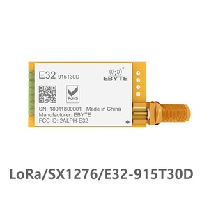 Módulo receptor transmisor y transmisor inalámbrico UART SX1276 de largo alcance de E32-915T30D Lora, 915mhz, 1W, SMA, antena IoT uhf