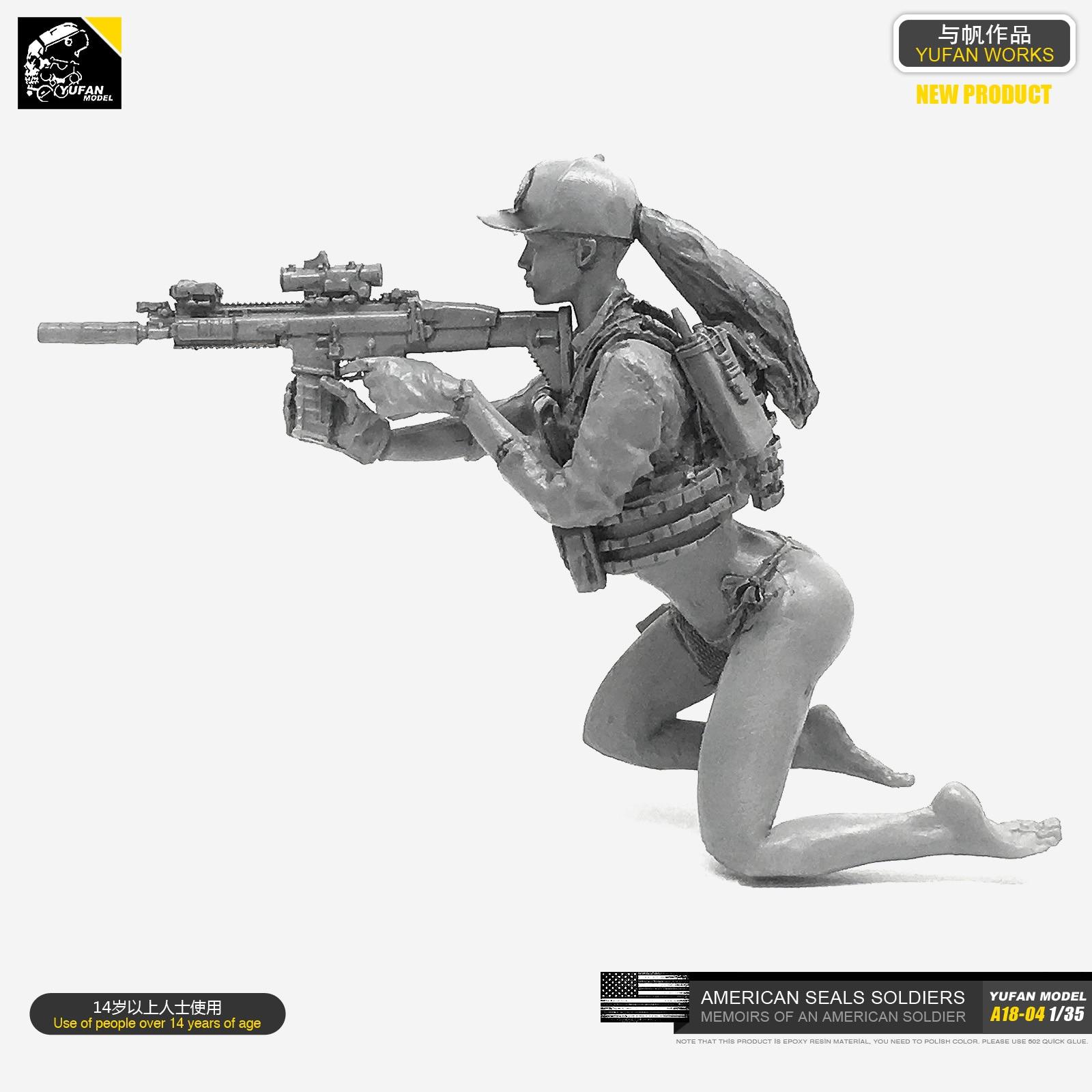 Yufan Model 1/35 Resin Soldier Kits  Model (US Army Bikini SEALs)  Self-assembled A18-04