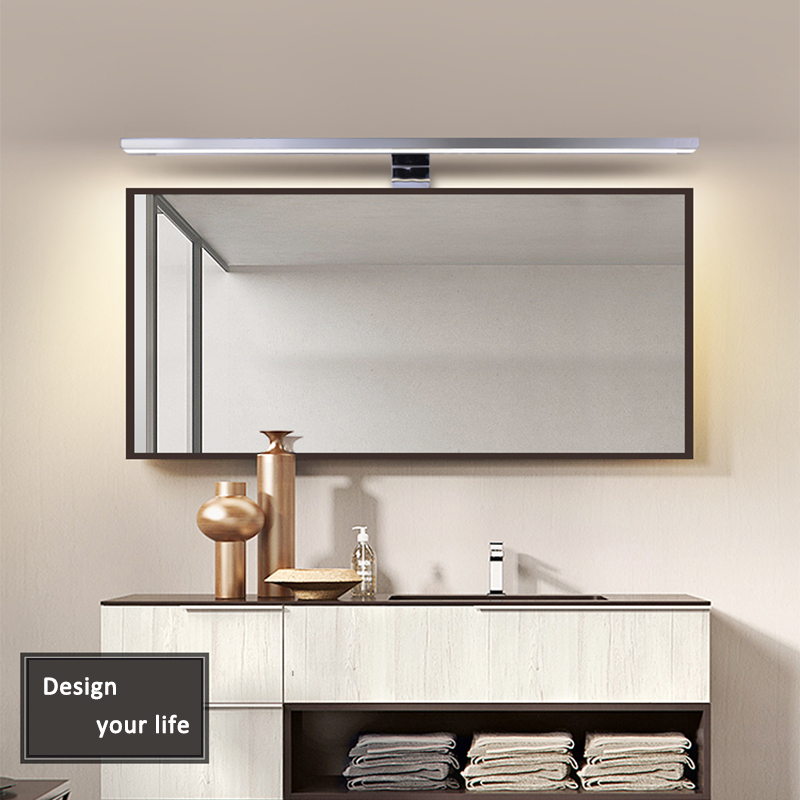2in1 Linson 60cm 8W 650lm IP44 CE ROHS Chromed Led Bathroom Mirror Light wall mounted led lamp led cabinet light-in LED Indoor Wall Lamps from Lights & Lighting
