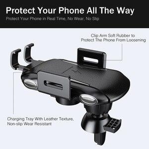 Image 4 - 아이폰 XS 맥스에 대한 YKZ 제나라 무선 차량용 충전기 화웨이 xiaomi에 대한 삼성 S10 빠른 무선 충전기 자동차 마운트 휴대 전화 홀더