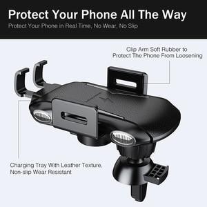 Image 4 - YKZ Qi Wireless Caricabatteria Da Auto per iPhone XS Max Samsung S10 Veloce Senza Fili Caricabatteria Da Auto Mount Supporto Del Telefono Mobile per huawei Xiaomi