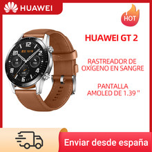Reloj HUAWEI GT 2 GT2 46MM Reloj inteligente Blood Oxygen Tracker SPO2 Bluetooth 5.1 Smartwatch Heart Rate Tracker Music Control, código: 11112020ES10 €100-10