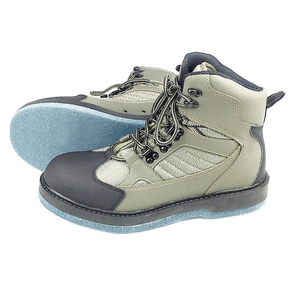 Promotion Waders Fly Fishing Outdoor Hunting Upstream Shoes Felt or Rubber Sole Rock Boots Fit for Fishing Clothes or Pants FM3