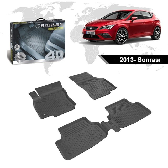 Element EXP.ELEMENTA30653B11 Tailored Fit Rubber Boot Liner Protector Mat forSeat Leon III 5F Hatchback 2012