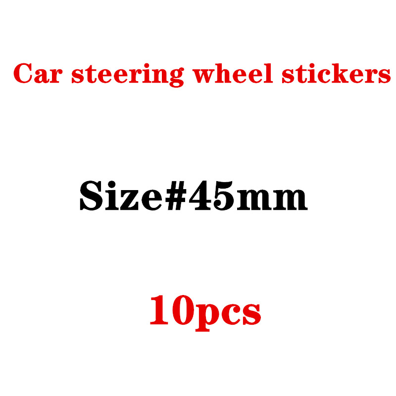 10pcs 45mm Car Steering Wheel Badge Emblem <font><b>Sticker</b></font> for <font><b>F10</b></font> F20 F25 F30 F31 E36 E39 E87 E60 E46 E90 X1 X3 X5 E53 car Styling image