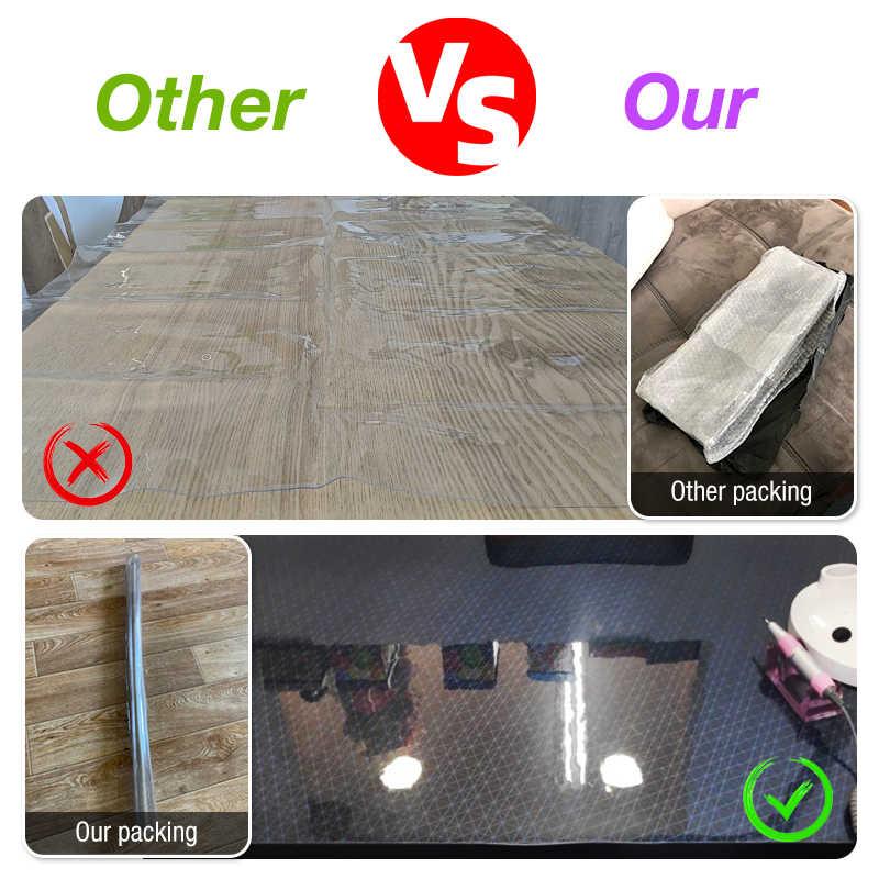 שולחן בד מפת שולחן מלבני סיליקון PVC רך זכוכית עמיד למים שקוף שולחן כיסוי עבור בית מטבח אוכל חדר