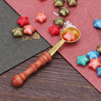 Łyżka do lania wosku pieczęć pieczęć woskowa koraliki do koperty vintage craft ślubna woskowa pieczęć starożytna pieczęć woskowa pieczęć drewnianym uchwytem łyżeczka tanie i dobre opinie CN (pochodzenie) Pieczątka standardowa Metal dekoracja